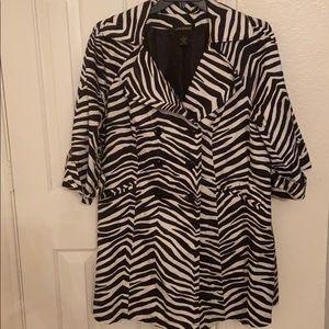CLEARANCE: Zebra print jacket
